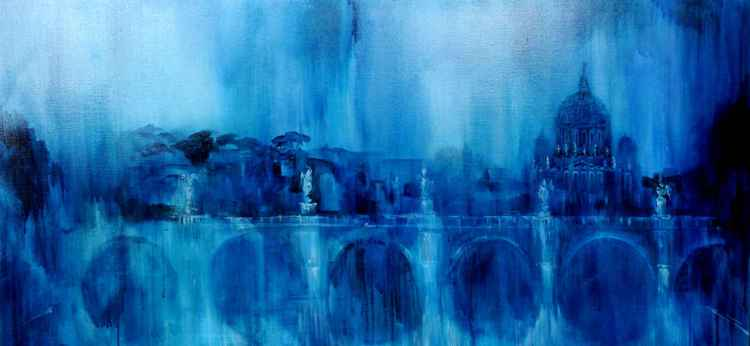 12-Blue Roma,oil on canvas,53x77cm