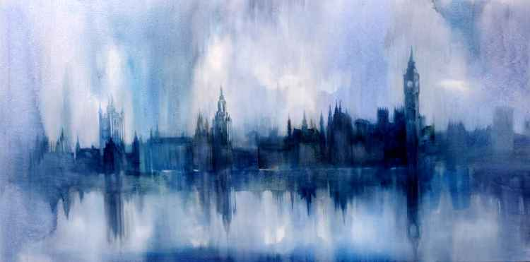 13-London from Tamise,oil on canvas,153x77cm