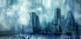 Montreal, oil on canvas, 153x77cm, 2015, 1400$,